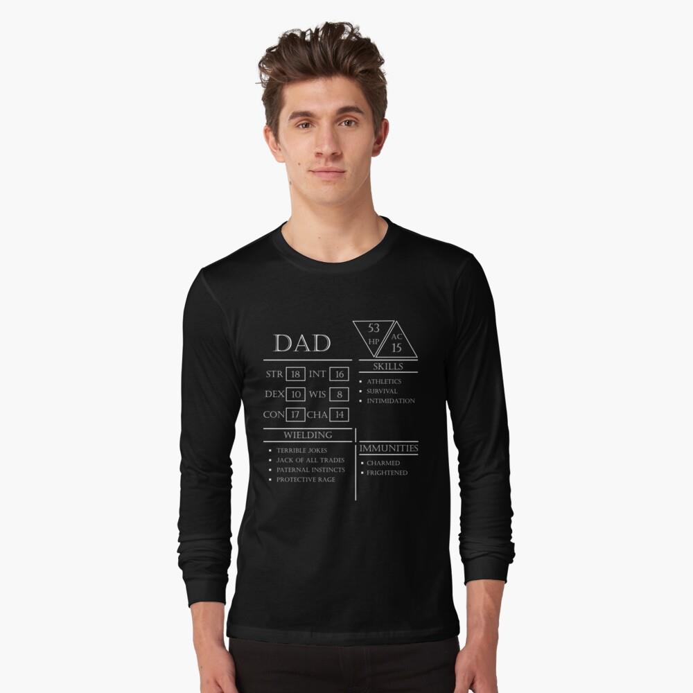 Dad Stats - Character Sheet - White Essential Shirt