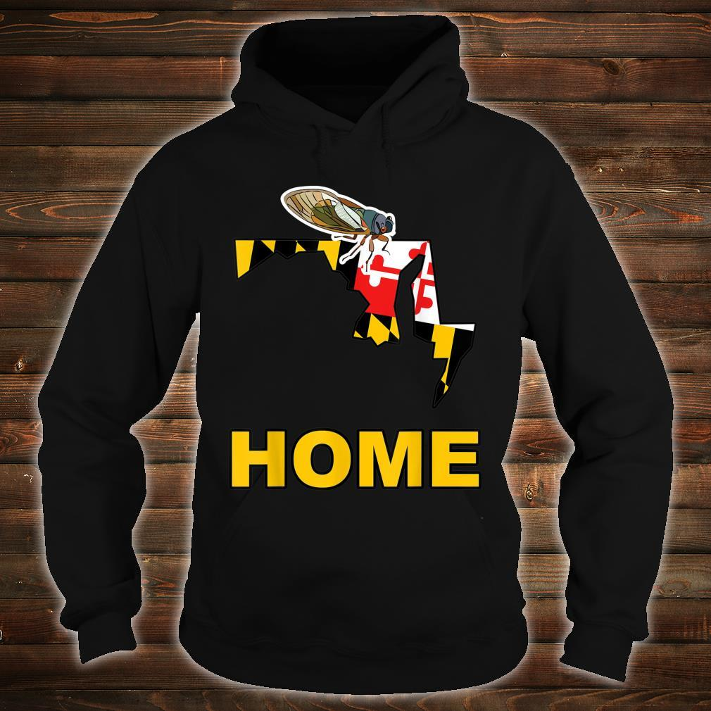 Maryland State Flag Cicada Cicadas Swarm Summer Bugs Insects Shirt hoodie