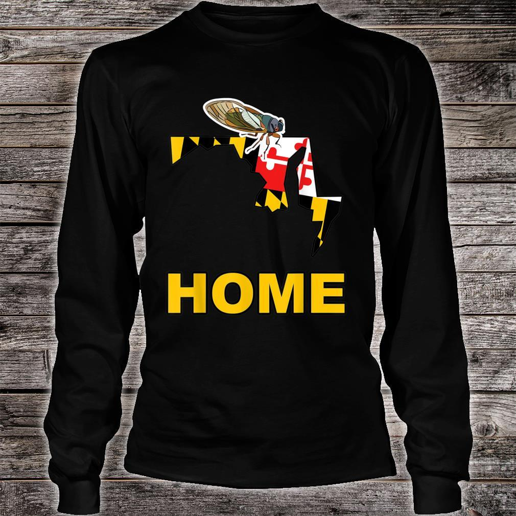 Maryland State Flag Cicada Cicadas Swarm Summer Bugs Insects Shirt long sleeved