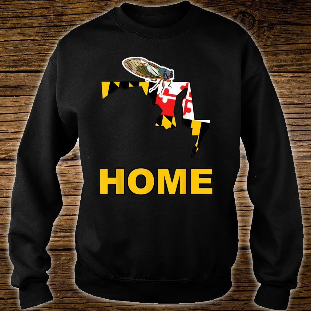 Maryland State Flag Cicada Cicadas Swarm Summer Bugs Insects Shirt sweater