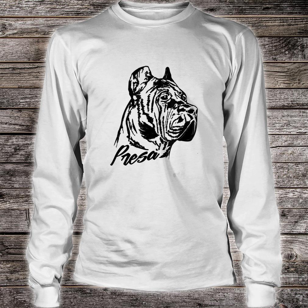 Perro de Presa Canario Dogo Canario Shirt long sleeved