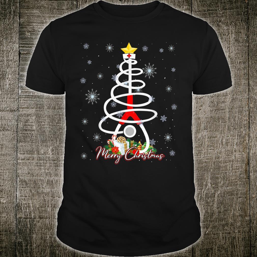 Stethoskop, WeihnachtsbaumLichter, niedlich, medizinische Krankenschwester Shirt