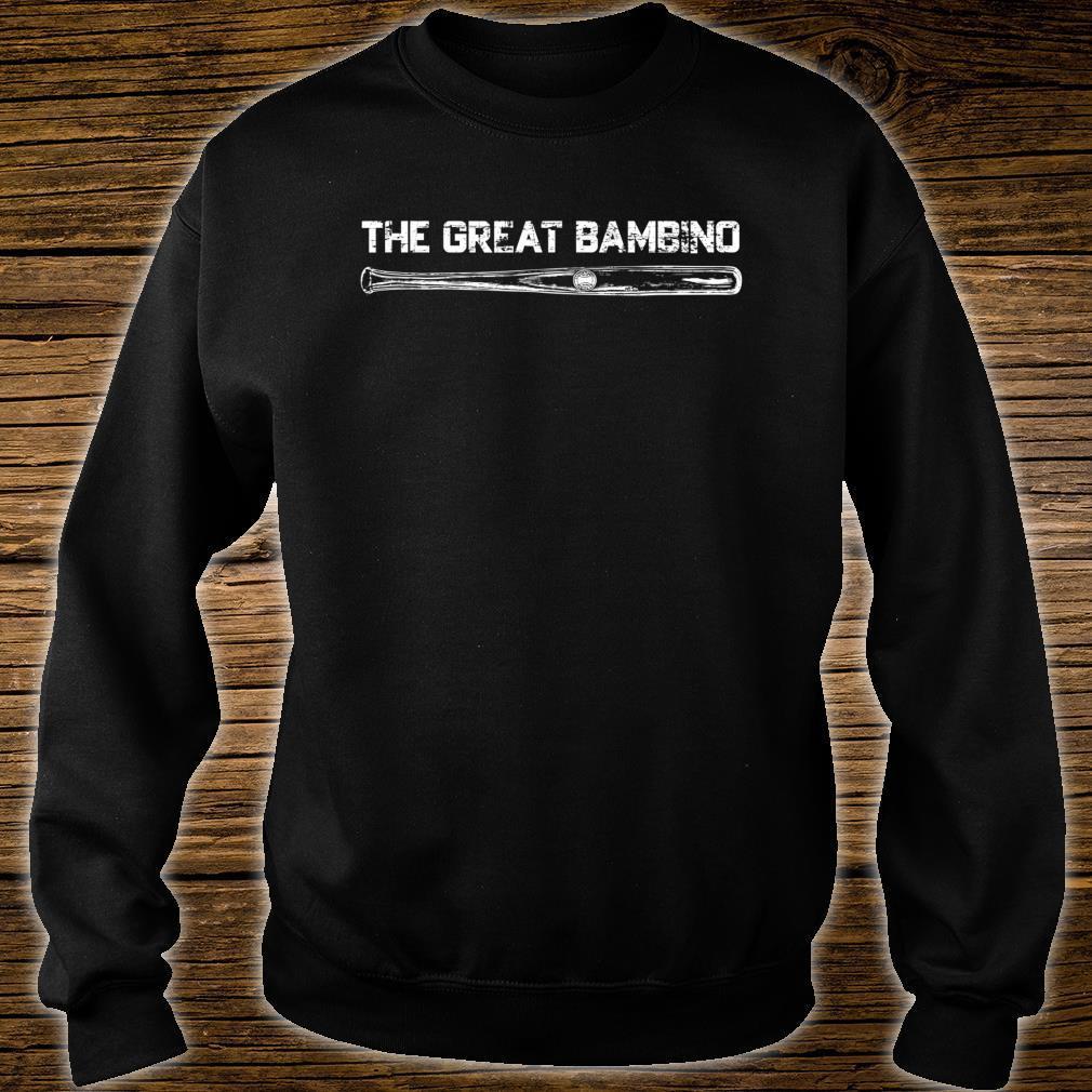 The Great Bambino Baseball Legend Sports Light Shirt sweater