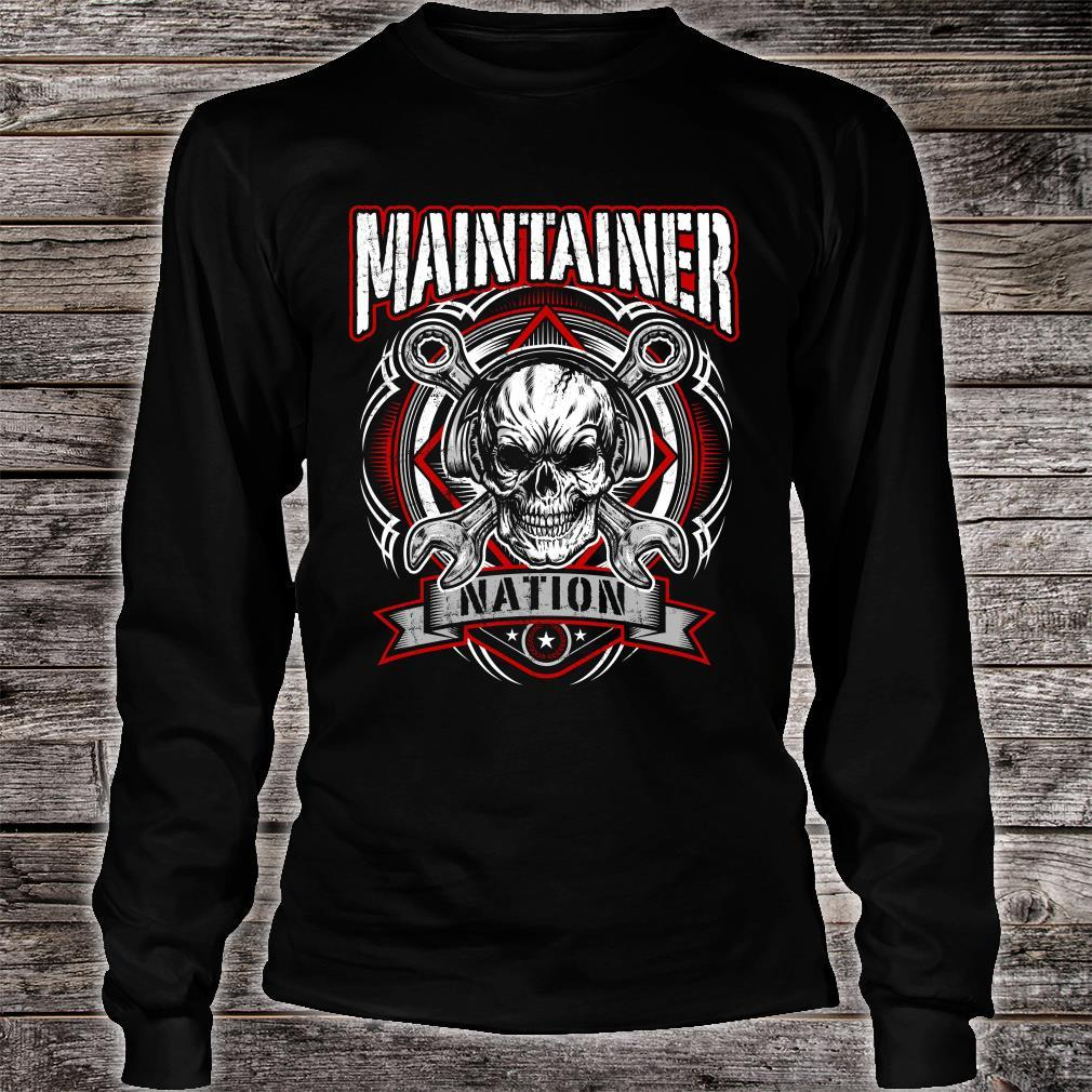 Maintainer Nation Shirt long sleeved