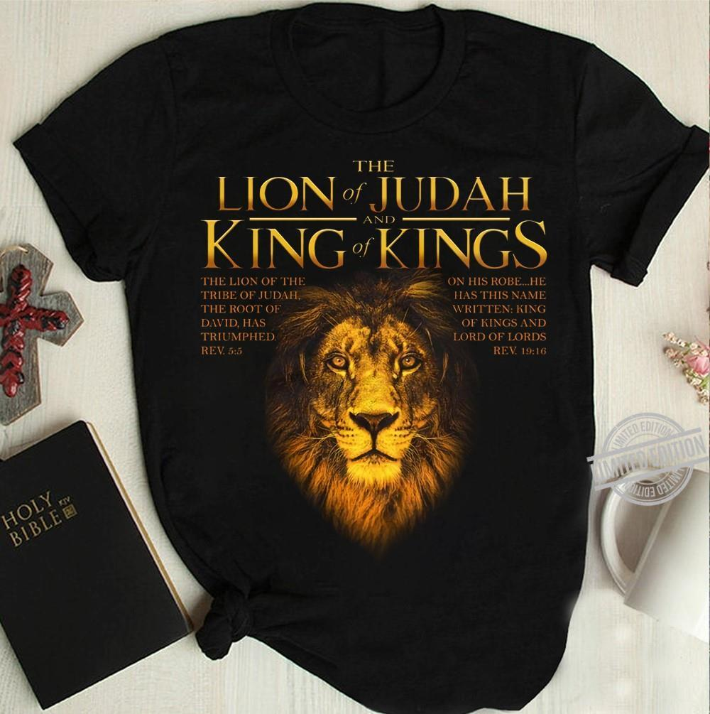 The Lion Of Judah And King Of Kings Shirt